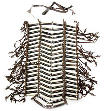 Buffalo Bone Hairpipe Full Breastplate 2 Choices Native Style