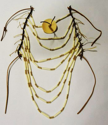 Bone Hair Pipe and Brass Bead Breastplate Kit