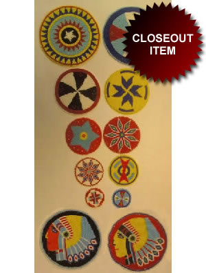 Grey Owl Readymade Beaded Rosette 1 1/2'' Diameter Per Dozen Pack
