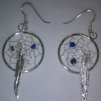 1 1/4'' Dream Catcher Earrings