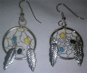 1'' Dream Catcher Earrings