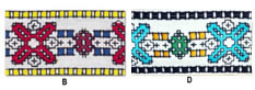 1 7/8'' Cloth Strip-Geometric Pattern