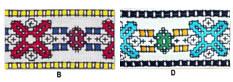 1 7/8'' Cloth Strip-Geometric Pattern