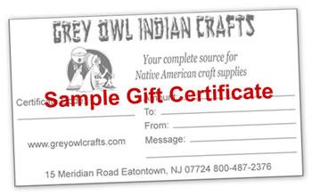 Grey Owl Gift Certificate