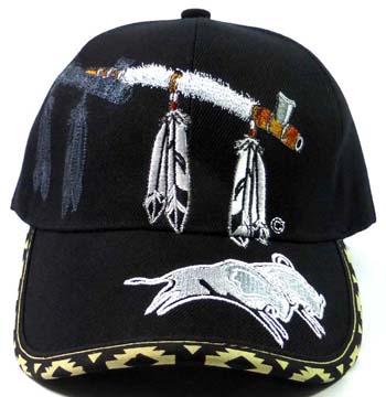 Native Pride Peace Pipe & Buffalo Hat