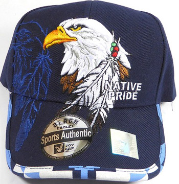 Native Pride Baseball Cap - Eagle and Feather Hat