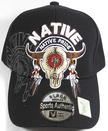 Native Pride Buffalo Skull Hat