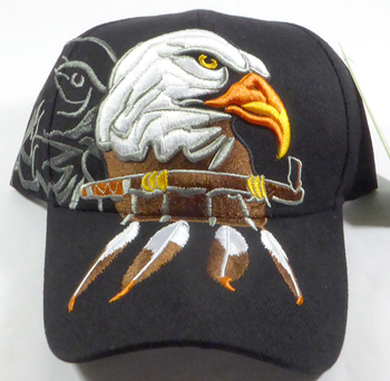 Native Pride Peace Pipe and Eagle Hat