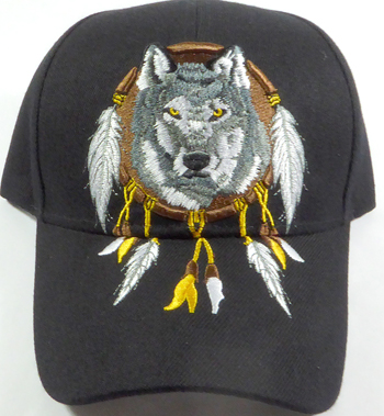 Native Pride Wolf Dream Catcher Hat