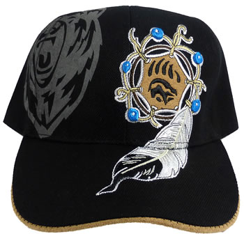 Native Pride Roaring Bear and Bear Claw Baseball Cap with Suede Underbrim