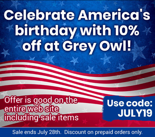 10% Off at Grey Owl