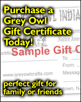 Grey Owl Indian Crafts Gift Certificate