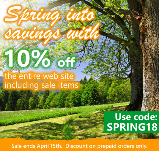 Spring into savings with 10% off