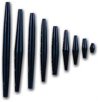 Black Buffalo Horn Hair Pipes 3''