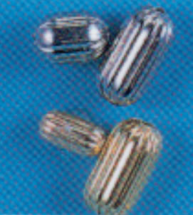FLUTED-BAR BEADS 3/16'' x 1/2'' - 50 PACK