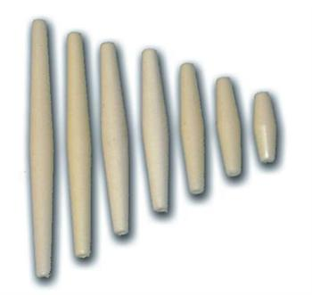 PLASTIC HAIR PIPE IVORY 4''