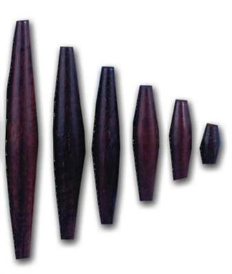 Rosewood Hair Pipes 1''