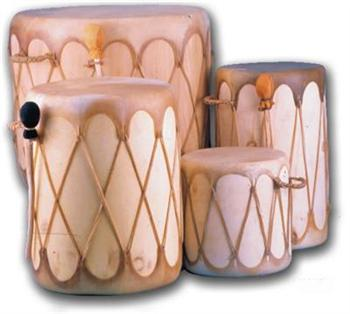 SOUTHWESTERN LOG DRUMS 12'' x 12''