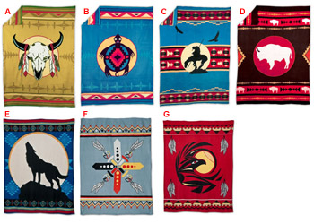 Native American Design Fleece Blanket