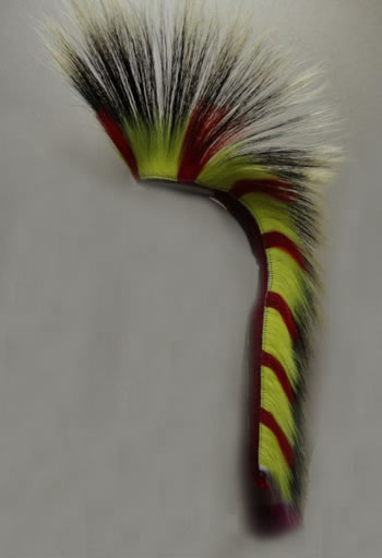 READY-MADE PORCUPINE HAIR ROACH RAINBOW COLORS Deer Hair Outside