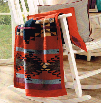 Taos Red Crib Blanket