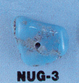 GENUINE TURQUOISE NUGGETS 3/8''