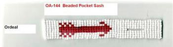 BEADED POCKET SASH