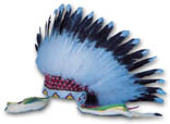 READY-MADE HAND PAINTED EAGLE FEATHER OLD STYLE WAR BONNET KIT