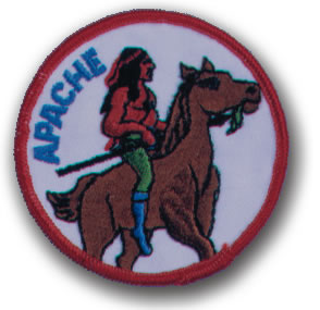 EMBROIDERED PATCHES -SEW-ONS - APACHE