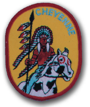 EMBROIDERED PATCHES -SEW-ONS - CHEYENNE