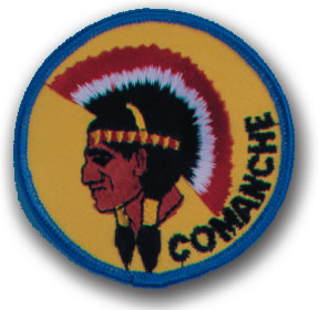 EMBROIDERED PATCHES -SEW-ONS - COMANCHE