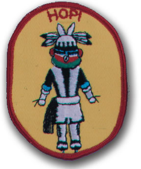 EMBROIDERED PATCHES -SEW-ONS - HOPI