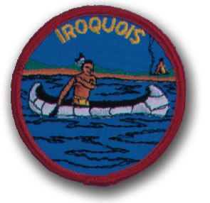 EMBROIDERED PATCHES -SEW-ONS - IROQUOIS
