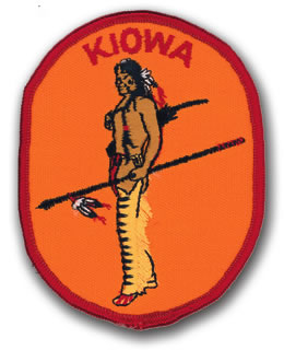 EMBROIDERED PATCHES -SEW-ONS - KIOWA