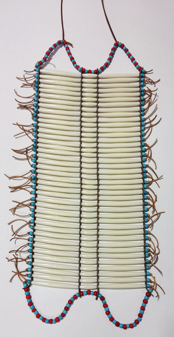 Bone Hair Pipe Breastplate Ready-Made with Plastic Trade Beads