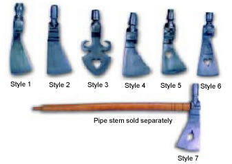 PIPE TOMAHAWK HEADS