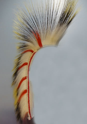 READY-MADE ORDER OF THE ARROW PORCUPINE HAIR ROACH DEER HAIR - OUT ONLY