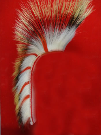 READY-MADE ORDER OF THE ARROW PORCUPINE HAIR ROACH DEER HAIR - INSIDE and OUT