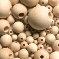 ROUND WOODEN BEADS - 20mm Natural (Unstained)