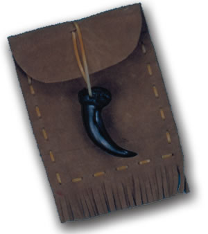 INDIAN WAMPUM POUCH