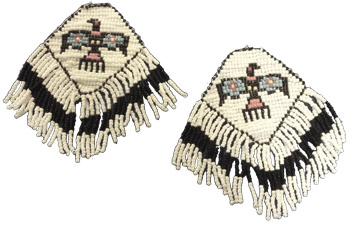 BEADED MOCCASIN TOE PATCH PAIR