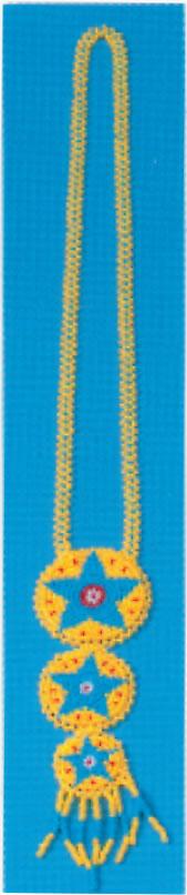 Beaded 3 Rosette Necklace