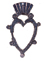 CROWNED HEART EARRING