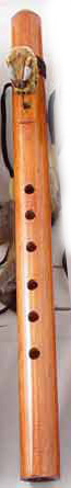 Hand Carved Wood Buffalo Flute